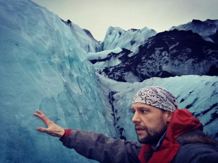 Dotykam lodowca na Islandii